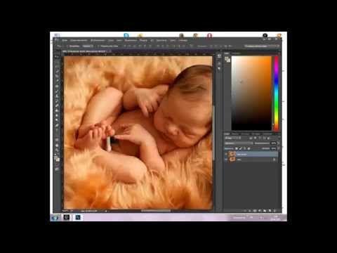 Фотография новорожденных.Ретушь Как убрать зелёнку. как фотографировать новорожденного - YouTube