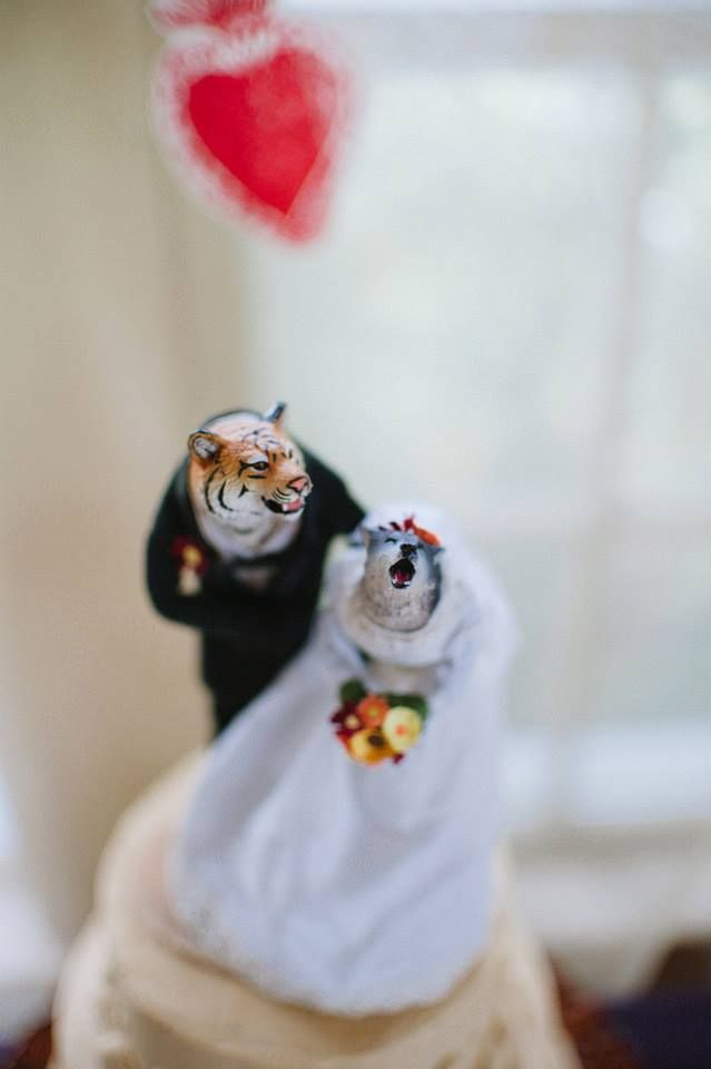 Custom Wedding Cake toppers made by Katie Crawford....  Perfection.  http://ktcrawford.wix.com/works
