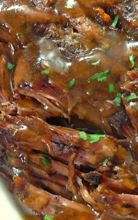 """Slow Cooker """"Melt in Your Mouth"""" Pot Roast - This recipe produces the best pot roast ever. The meat is juicy and fall-apart tender; the vegetables are cooked just right; the seasonings are simply spot on and the broth yields a fabulous gravy-like sauce that is divine when poured over everything prior to serving."""
