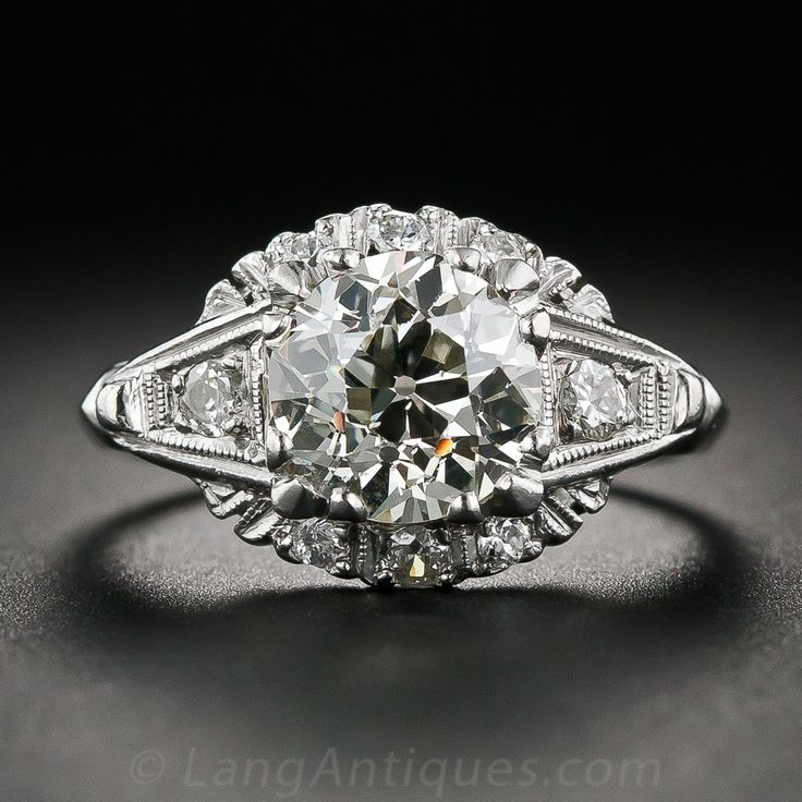 1.65 Carat Diamond and Platinum Engagement Ring, Circa 1950's