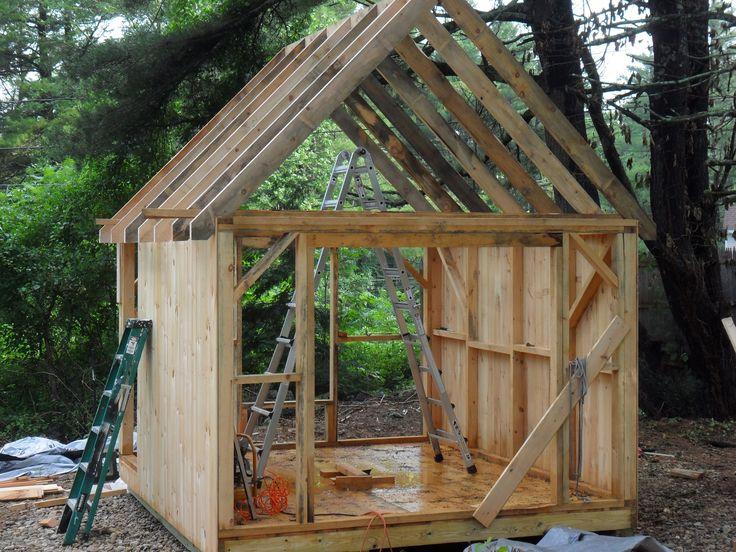 Roof Framing Outdoor Building Sheds Pinterest Sheds