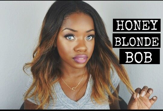 Honey Blonde Ombre Bob African American Weave With Images