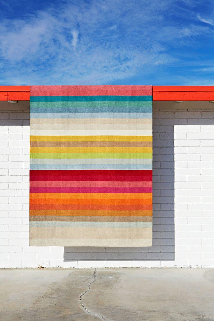 Armadillo&Co Designer Collection 'Ribbon Multi-Stripe' rug | see more at: www.armadillo-co.com