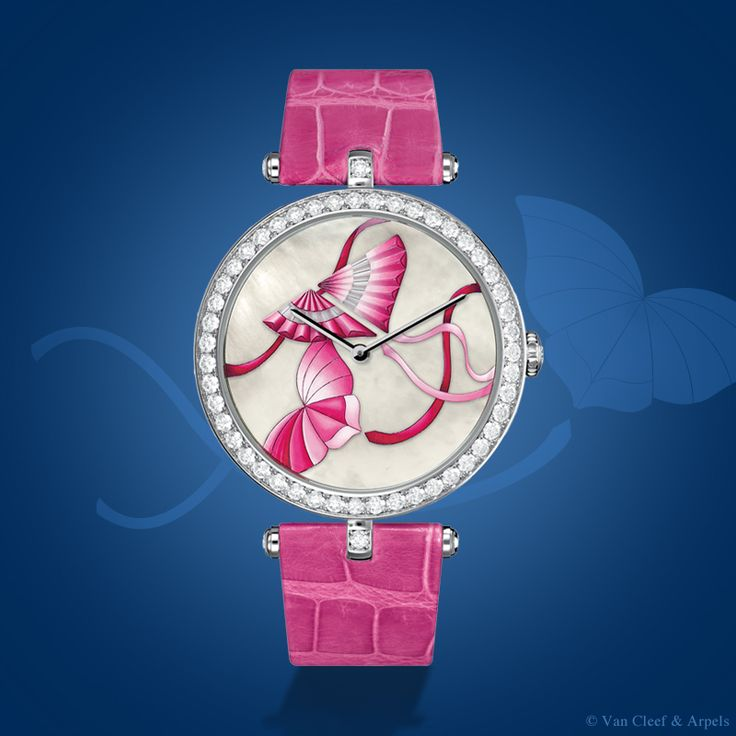 Van Cleef & Arpels Lady Arpels Cerf-Volant Fuchsia timepiece, Extraordinary Dials™ collection