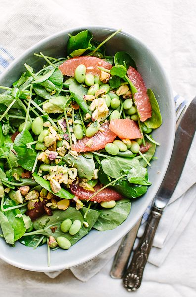 ... Salad with Edamame | Recipe | Grapefruit Salad, Edamame and Avocado