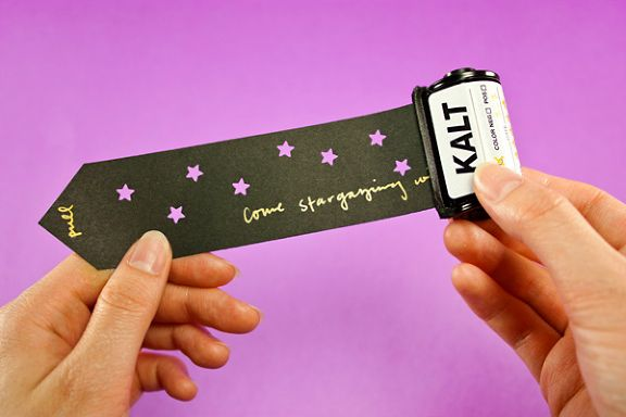 DIY: Analogue Invitations Made with Film Canisters