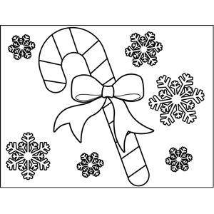 Great For Winter Holiday Art Activities, This Printable Christmas Coloring  Page Features Snowflakes And A
