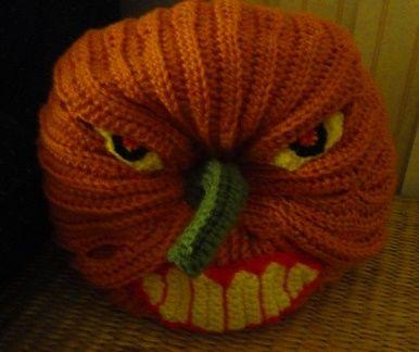 Crochet Parfait: Scary Halloween Pumpkin, free pattern