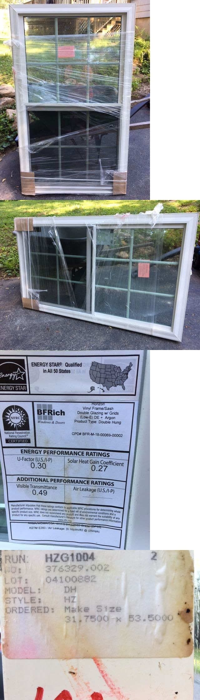 Windows 45794: Bf Rich Double Hung White Vinyl Replacement Window New -> BUY IT NOW ONLY: $180 on eBay!