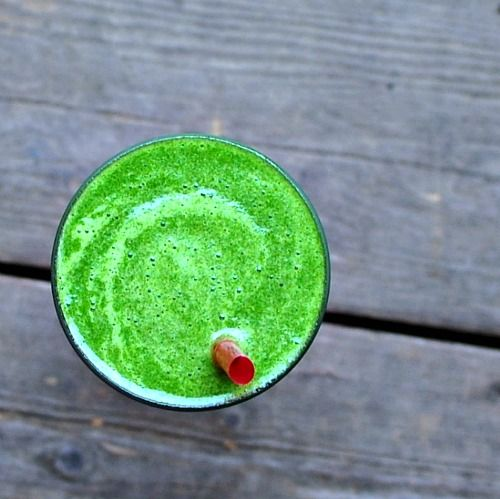Tropical cure all (pinapple, spinach, banana, coconut water)