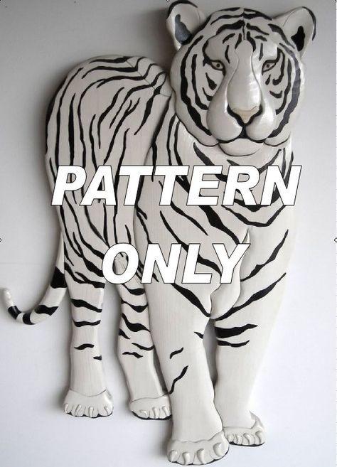 Patrón de Intarsia Pie de tigre blanco por kennbennett en Etsy