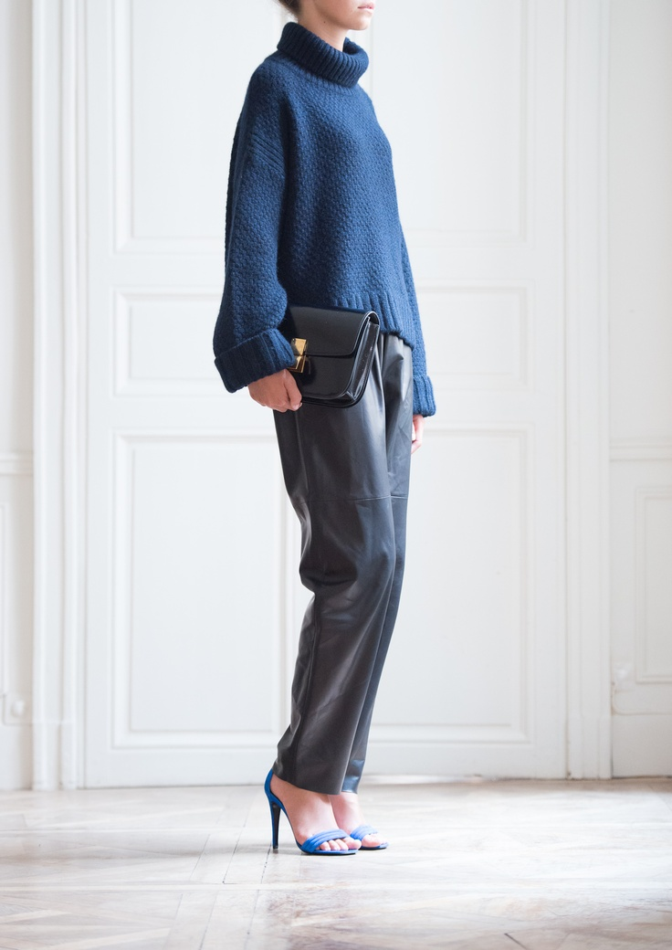 Celine navy oversize cashmere sweater | fabulousness | Pinterest ...