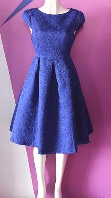 #Vestido #azul rey corte A, ideal para tu evento especial.