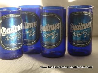 Vasos reciclados de botellas  www.lacaloatamosconalambre.com