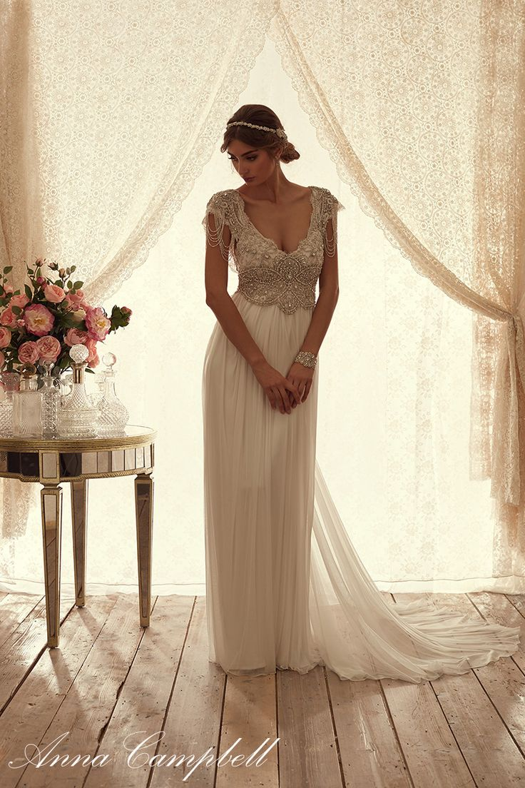 67 best anna campbell collection at paperswan bride images for Anna campbell vintage wedding dress