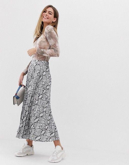 73b1551205 New Look midi skirt in snake print in 2019 | style in form | Midi Skirt, Printed  skirt outfit, Skirts