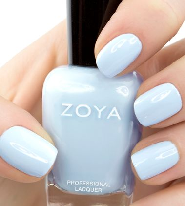 Pretty Zoya pastel blue nails