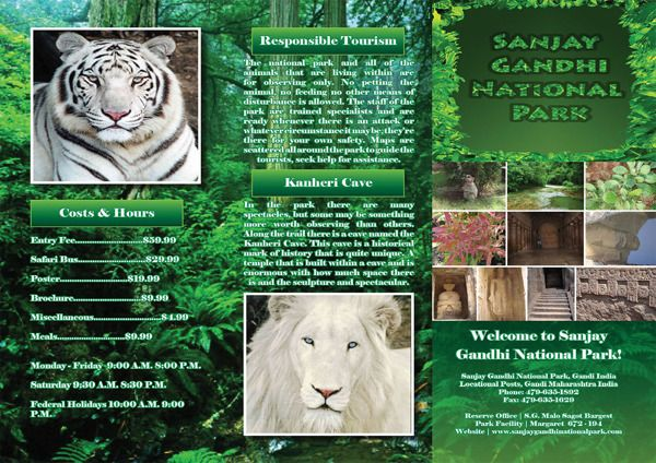 national park brochure