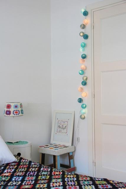 inspiration   cotton ball lights