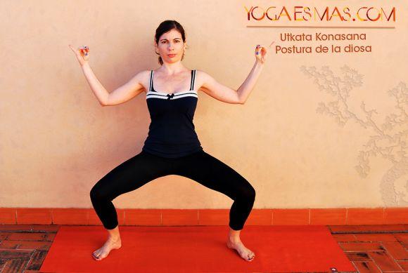 Posturas de yoga: La diosa - Utkata Konasana