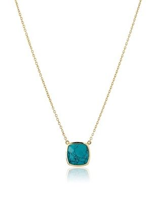 54% OFF Argento Vivo Turquoise Square Cushion Pendant Necklace