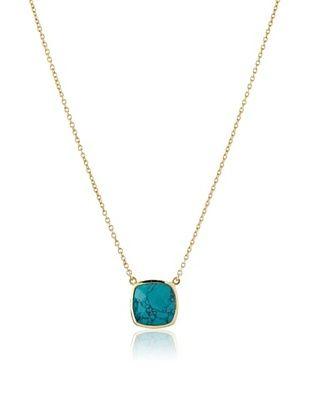 54% OFF Argento Vivo Turquoise Square Cushion Pendant Necklace