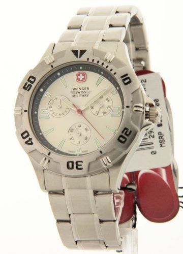 Mens Wenger Swiss Military Battalion Steel Day Date Month 10ATM Casual Watch 70881 Wenger. $99.95. Save 69% Off!