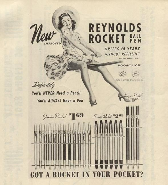 Reynold's Rocket Ad......got a rocket in my pocket and I'm ready to go.(..SRV  song...early days..unreleased album)