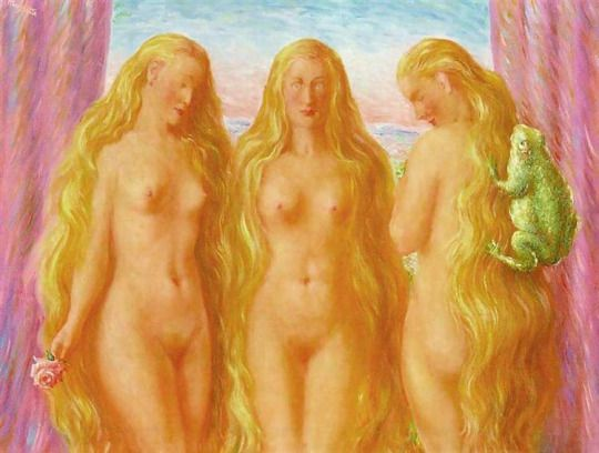 The Sea Of Flames 1946  Rene Magritte