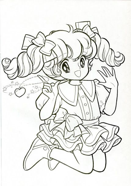 Japanese Animation Coloring Pages Vintage Book