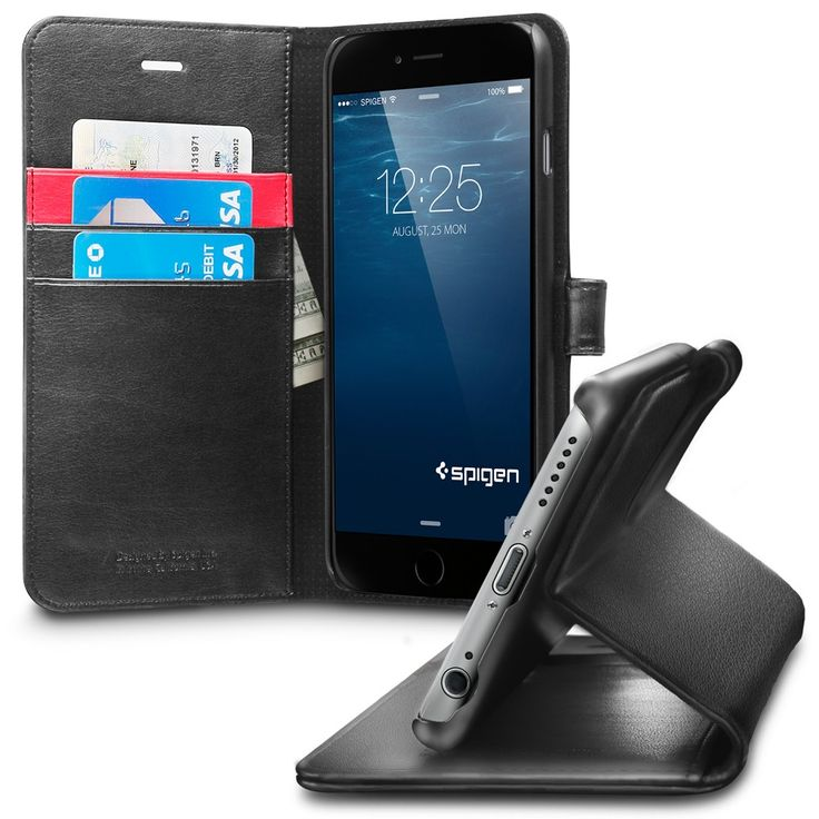 black iphone 6 case with stand