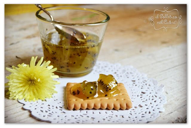 Marmellata di kiwi con vaniglia e rum