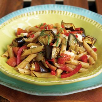 SBD Phase 2 Whole Wheat Penne with Eggplant and Ricotta Recipe... no way I get Sammy to eat this lol