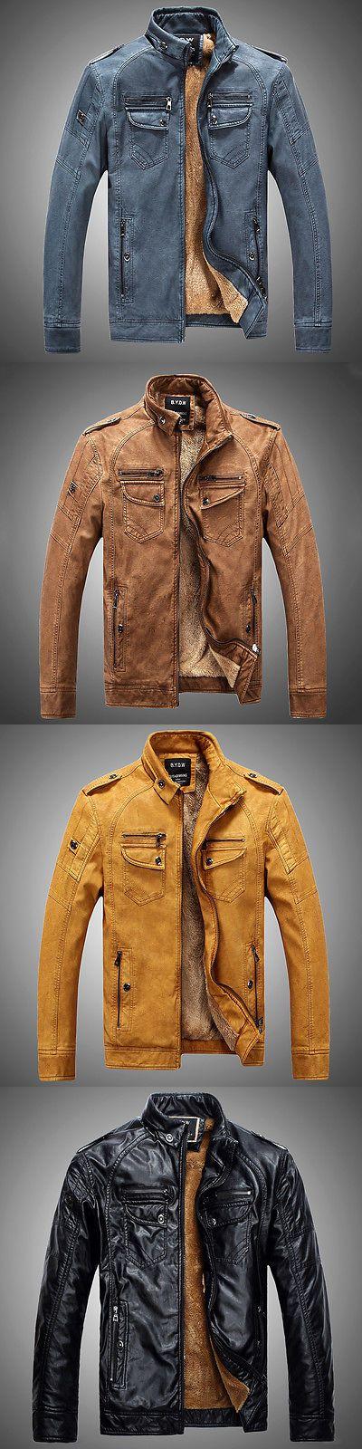 Men Coats And Jackets: Men S Genuine Lambskin Leather Jacket Black Slim Fit Biker Motorcycle Jacket -> BUY IT NOW ONLY: $34 on eBay!