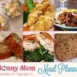 Skinny Meal Planner: Sept.17 – Sept. 21: Fit Food, Skinny Food, Healthier Recipes, Skinny Healthy Recipes, Healthifi Recipes, Crockpot Recipes, Skinny Meals, Meals Planners, Food Drinks