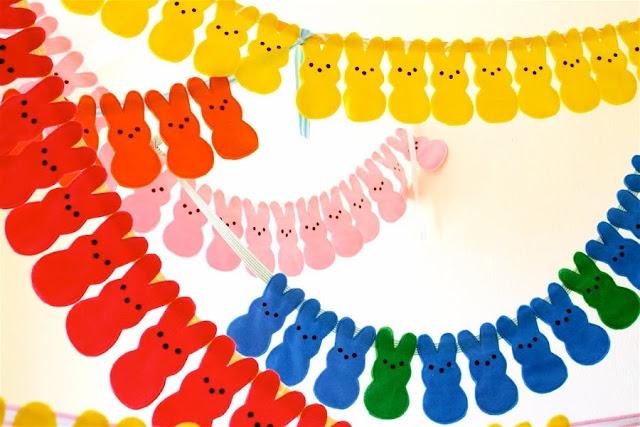 peeps garland for easter!