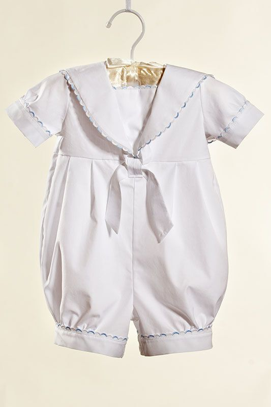 Baptism / christening baby boy cotton outfit sailor by Graccia, $90.00