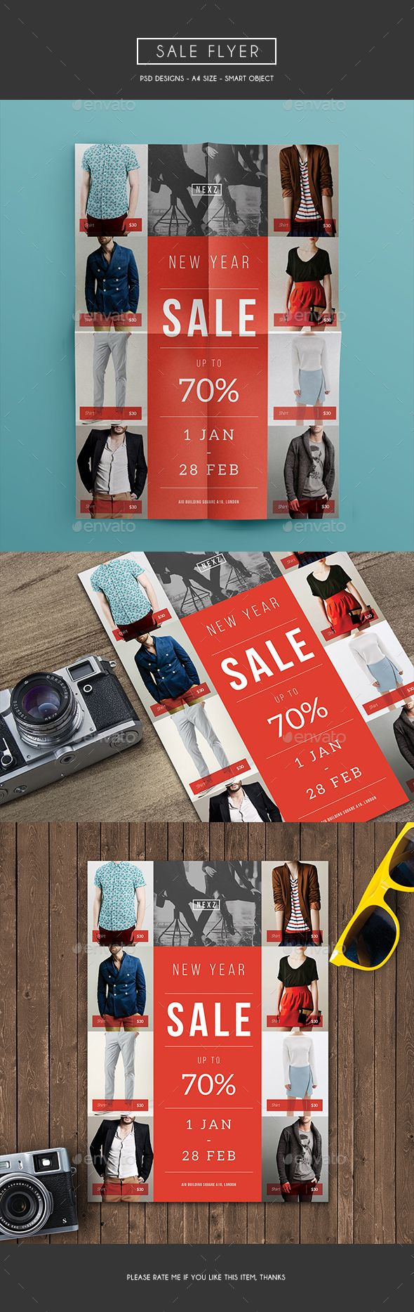 Sale Flyer Template PSD. Download here: http://graphicriver.net/item/sale-flyer/15991586?ref=ksioks