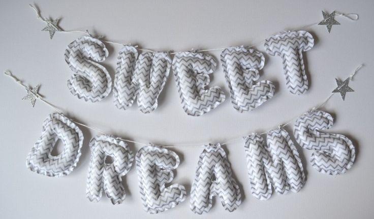 Sweet Dreams Silver star bunting - Decor - Nursery & Bedroom
