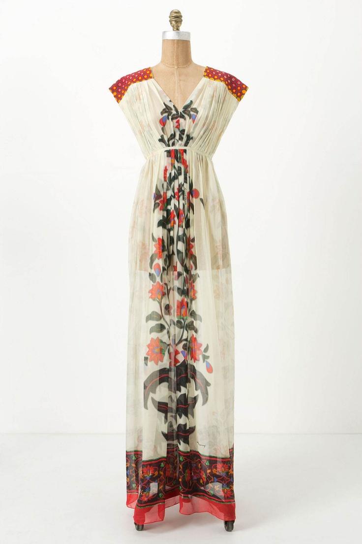 Devaki maxi dress via anthropologie for the home pinterest for Anthropologie mural maxi dress