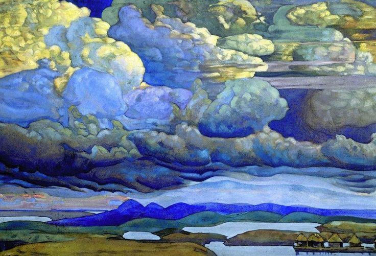 Battle in the Heavens (State Russian Museum, St. Petersburg, Russia)  by Nicholas Roerich