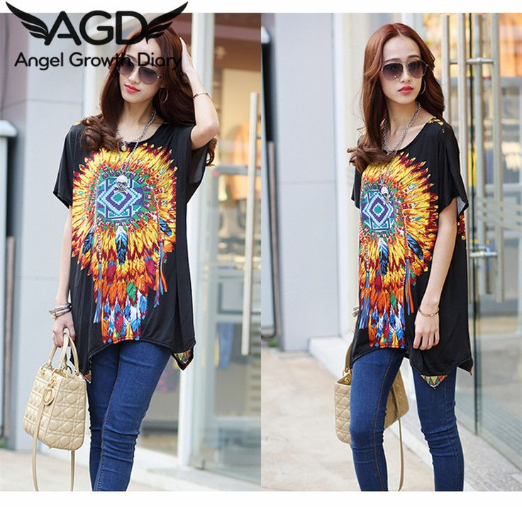 Find More T-Shirts Information about New Summer Women T shirt Large Size Women Loose Floral Batwing Sleeve Fashion T shirts Broadcloth Ice Silk Cotton,High Quality t-shirt dresses for women,China tshirt love Suppliers, Cheap tshirt polo from Angel Growth Diary on Aliexpress.com