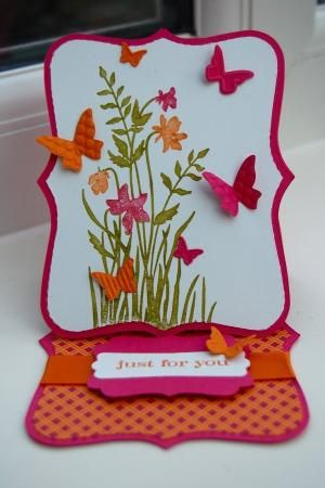 beautiful! Stampin Up Just Believe, Top Note Die, beautiful wings and decorative label punch by marcie