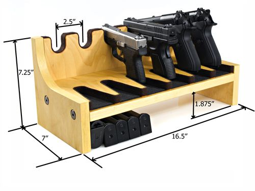 ... Racks, quality Pistol Racks - 6 Gun Pistol Rack w/Magazine Storage