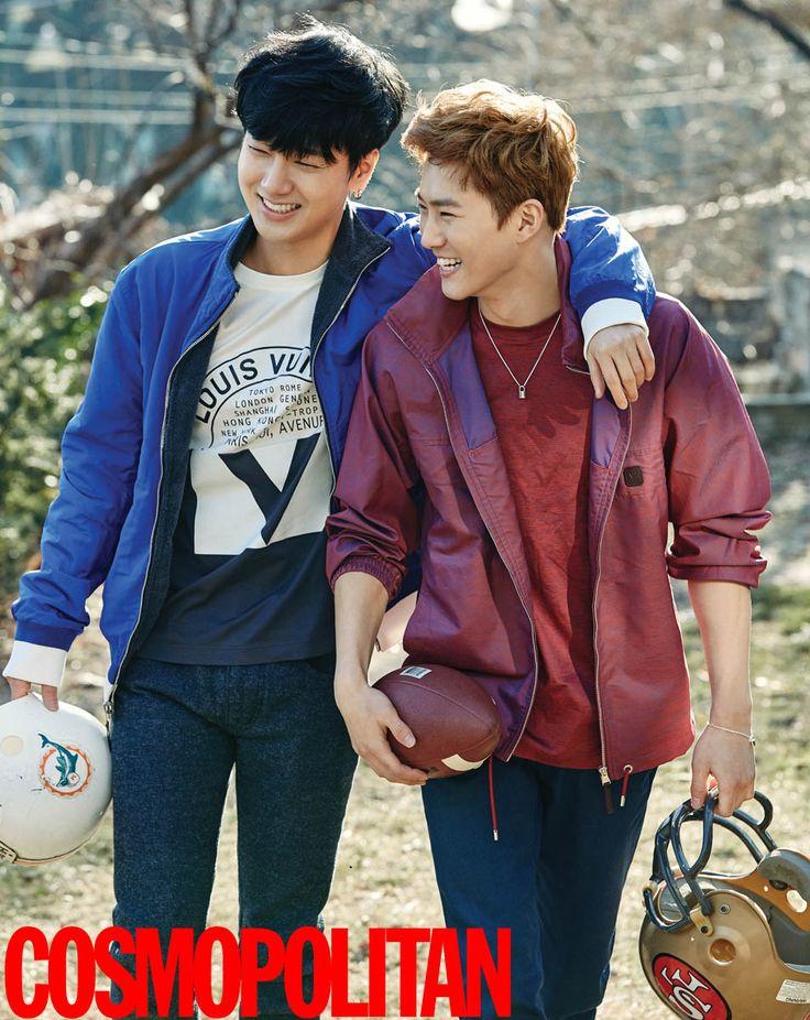 Super Junior Ye Sung, EXO Suho, SHINee Tae Min and Key - Cosmopolitan Magazine February Issue '16