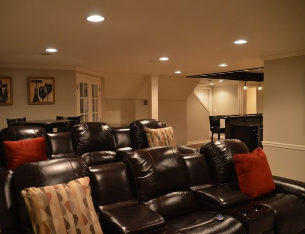 Finished Basements Plus Photo Set   Newly Finished Small Basement With A  Dynamic Design In Commerce Images