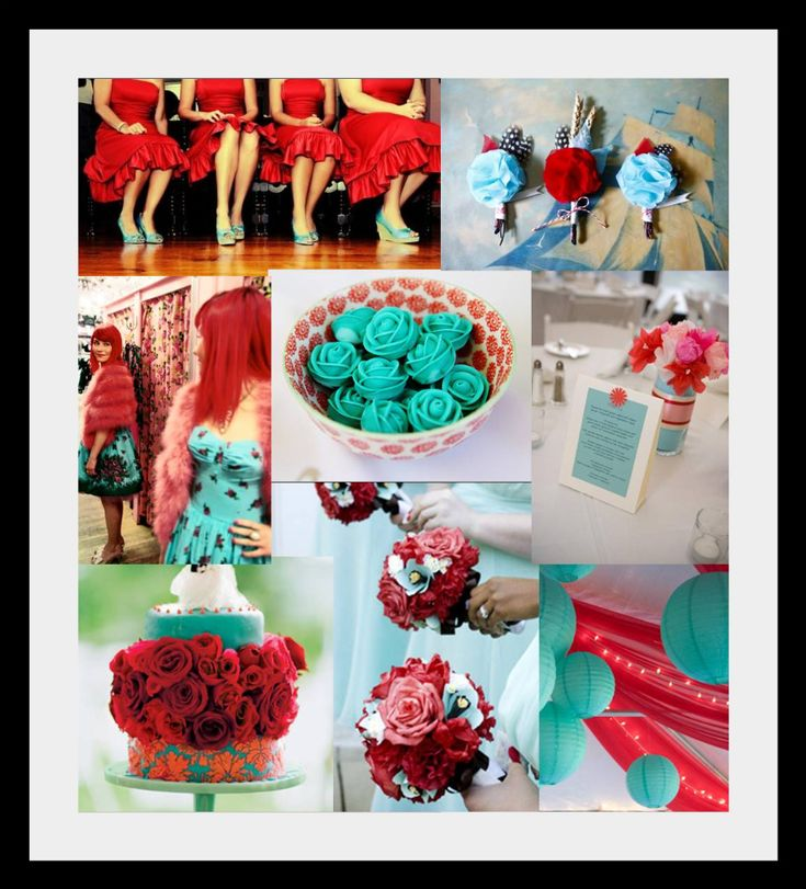 Poppy Red & Emerald wedding