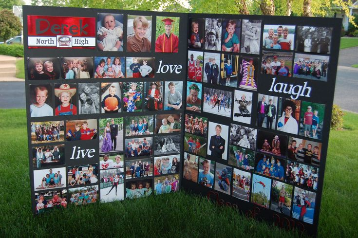 Graduation picture board time saver - put pictures on with clear photo corners.  Can take photos out and reuse for next kid.  Mine has been used twice and two more to go.
