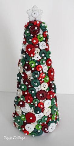 .: Xmas Trees, Christmas Crafts, Crafts Ideas, Trees Diy, Buttons Trees, Christmas Trees, Craft Ideas, Button Tree, Buttons Christmas