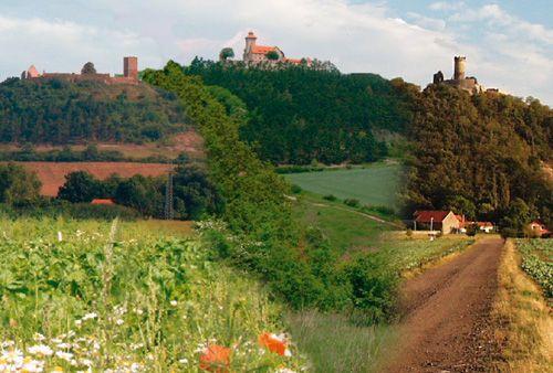 Drei Gleichen, Thüringen, Germany 3 hills, 3 castles, 1 hike